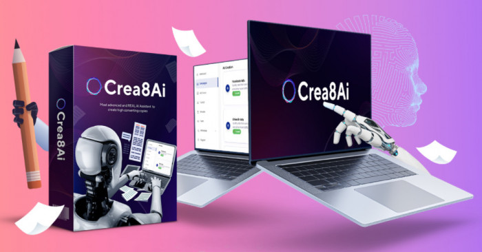 crea8ai content writer software by ankit mehta with upsell oto best first to market real artificial intelligence writes fresh and human copy for ads social media emails a 613326d72de5c
